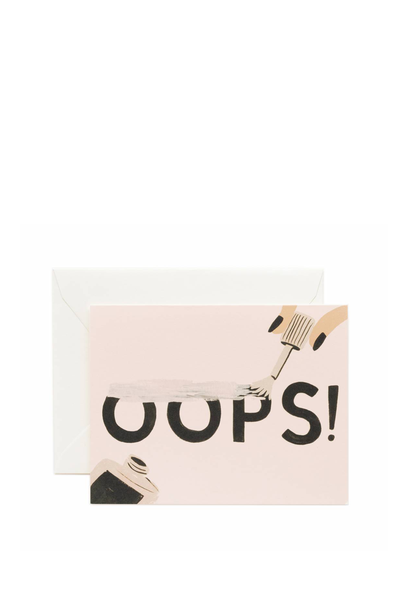 OOPS GREETING CARD