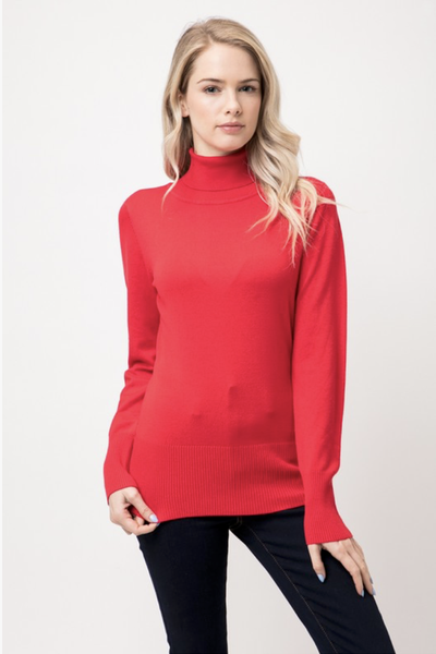 TURTLENECK SWEATER REDDISH ORANGE