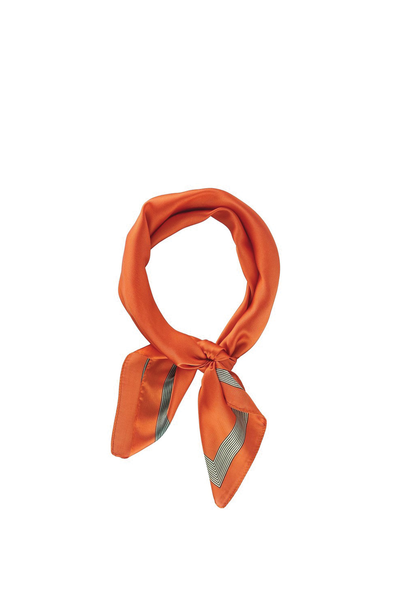 SOLID WITH LINE EDGE SCARF ORANGE