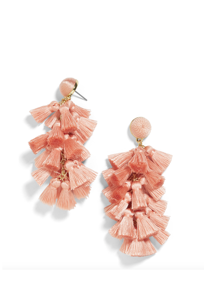 CONTESSA TASSEL EARRINGS ROSE PEACH