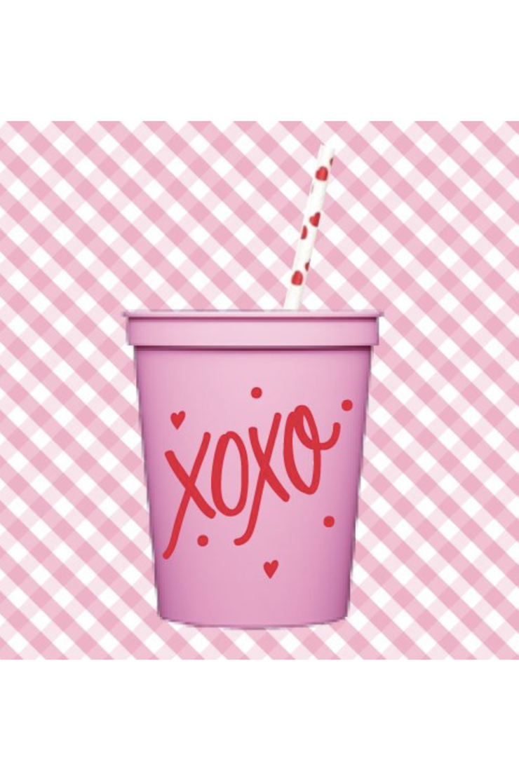 XOXO VALENTINE'S DAY PINK CUPS