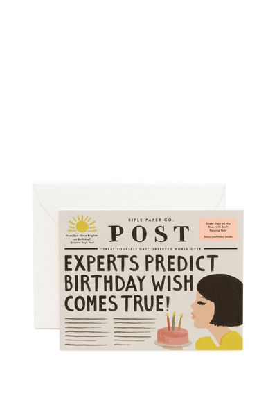 NEWSPAPER BIRTHDAY CARD