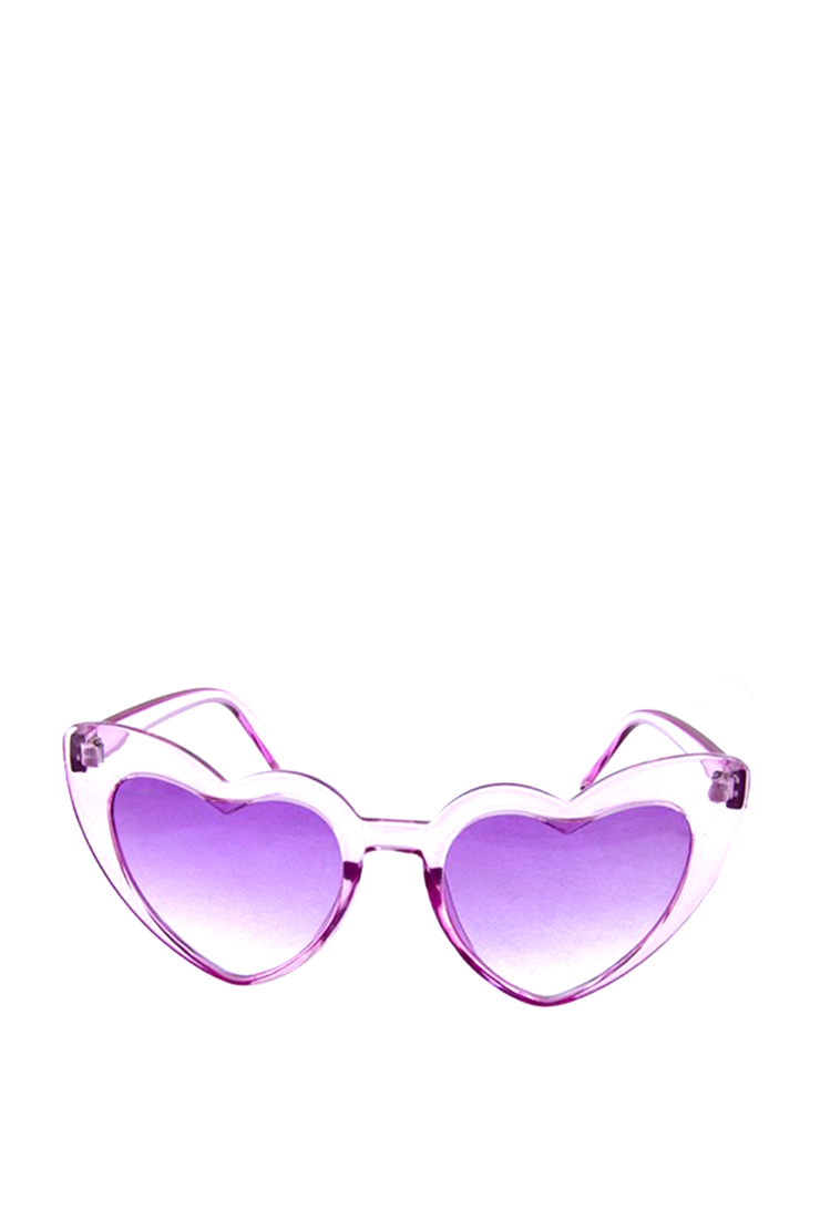 HEART SUNGLASSES PURPLE CRYSTAL
