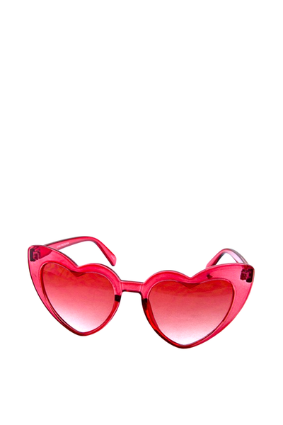 HEART SUNGLASSES RED CRYSTAL