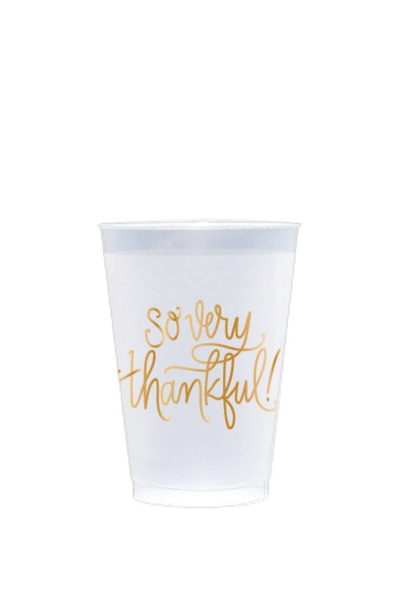 SO VERY THANKFUL FROSTED REUSABLE CUPS