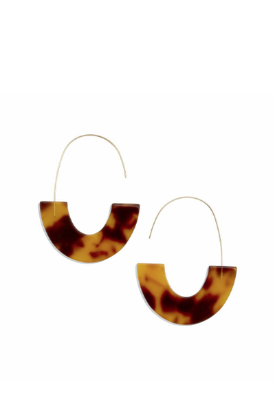 FAIDRA RESIN DROP EARRINGS BROWN