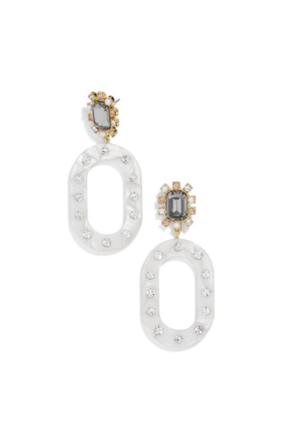 ANDINA RESINDROP EARRINGS WHITE