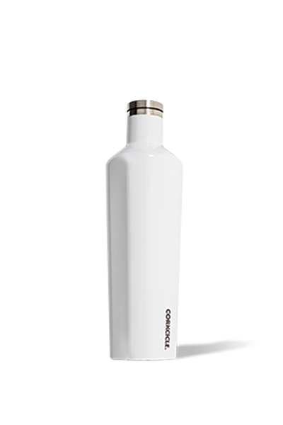 WHITE GLOSS CANTEEN 25 OZ.