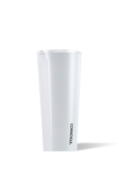WHITE DIPPED TUMBLER 24 OZ.