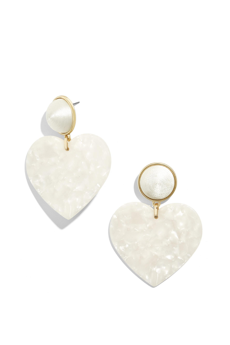 GIGI RESIN DROP EARRING IVORY