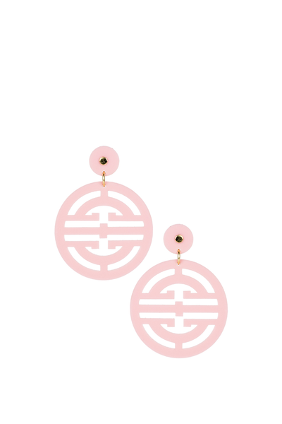 ZOEY EARRINGS LIGHT PINK