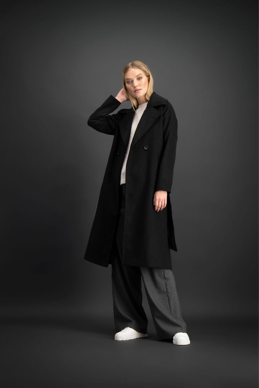 COPENHAGEN COAT - BLACK
