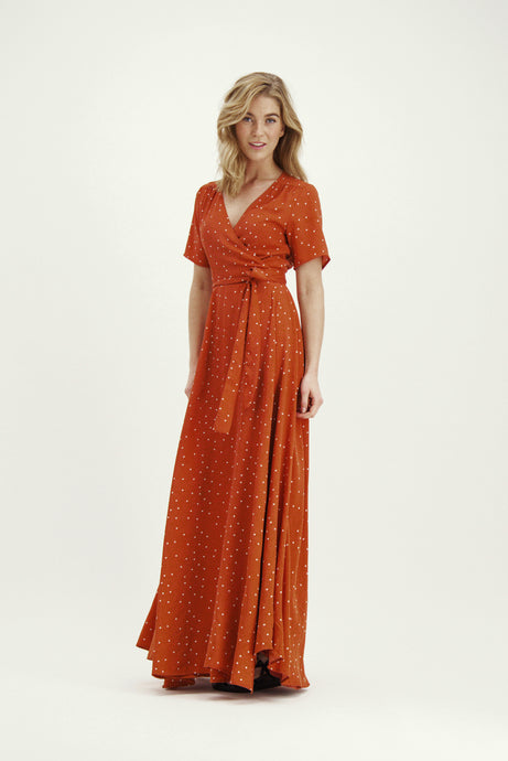 Love Dress - Terracotta Dots