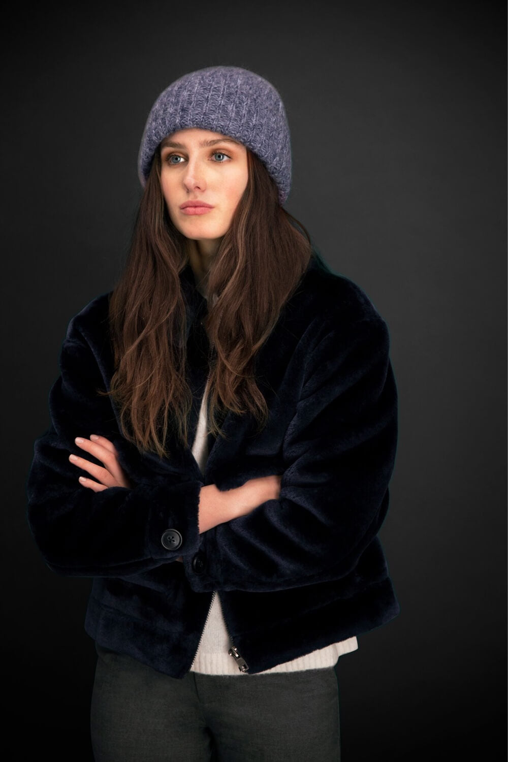 TEDDY JACKET - NAVY