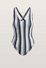 Load image into Gallery viewer, Joy Swimsuit - Navy/White Stripe