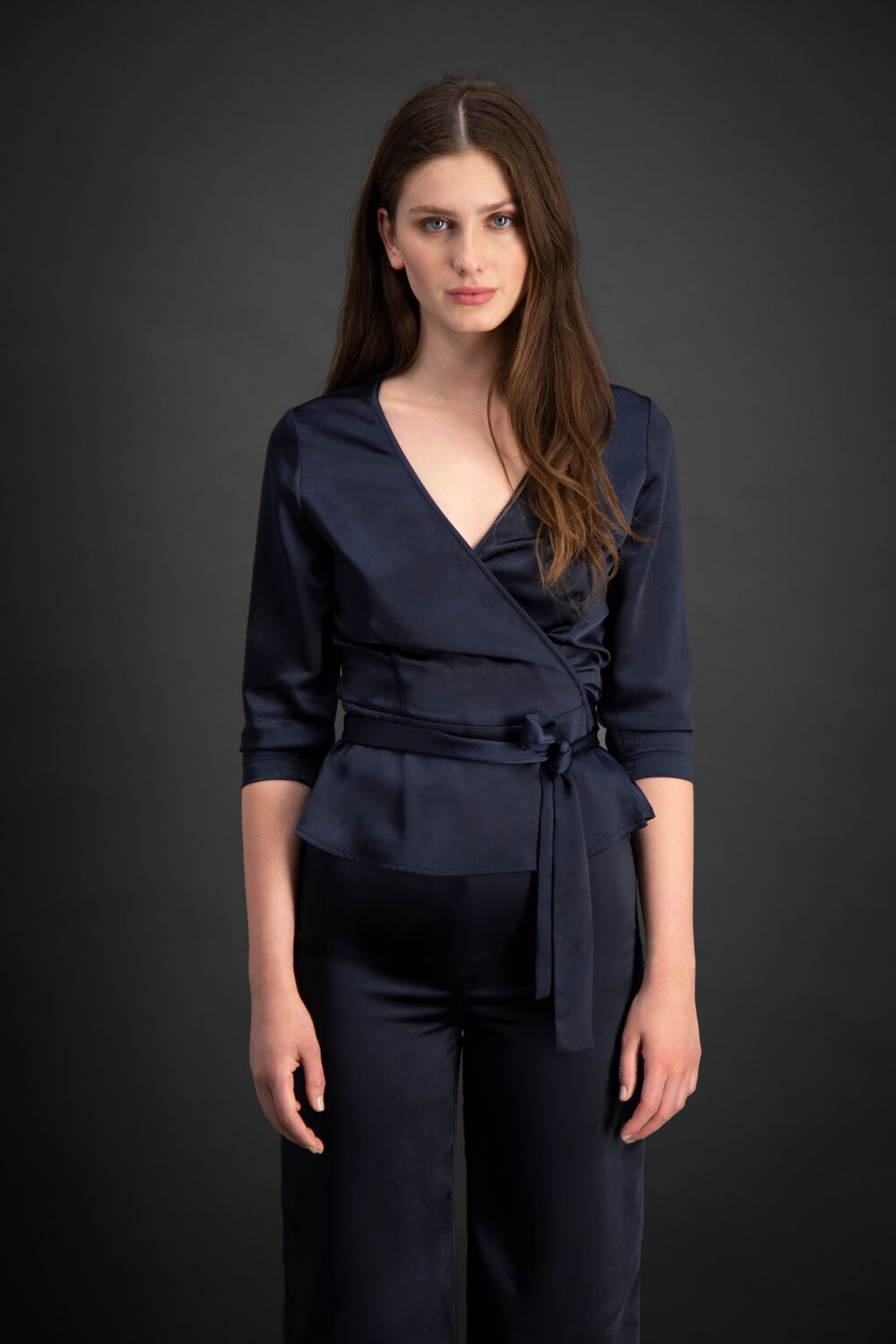 HAVANA WRAP TOP - NAVY