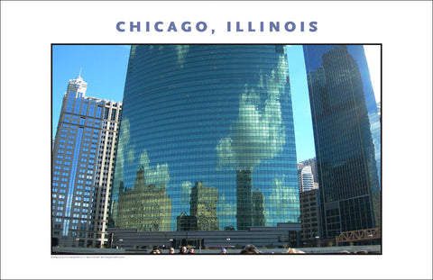 Old, New, Human Scale in Great City of Chicago Photo Wall Art #1000