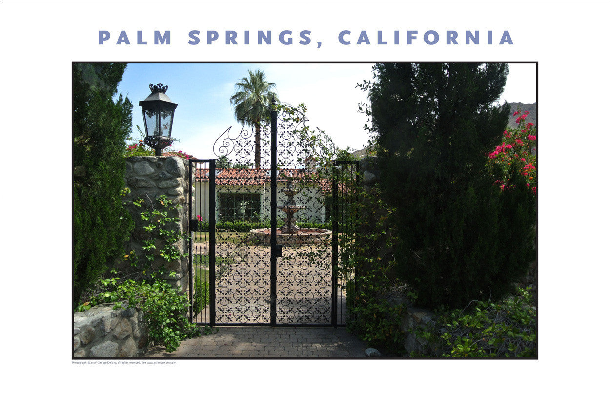More Gates!  House Tour of Palm Springs, CA Photo Art #1021