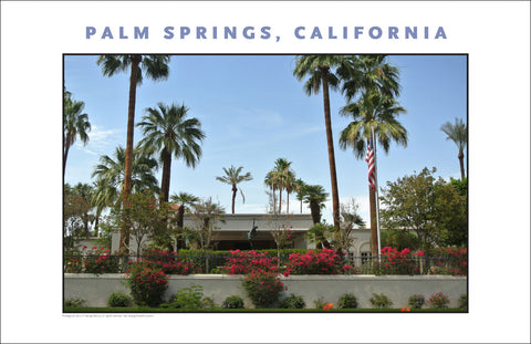 Add Flowers and Flag...A Beauty...Tour of Palm Springs, CA Photo Art #1022