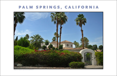 Beautiful Site on House Tour In Palm Springs...CA Photo Art #1025