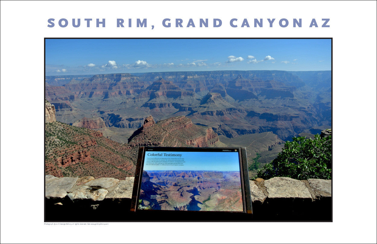 Testimony at South Rim, Grand Canyon, AZ Photo Wall Art #1110