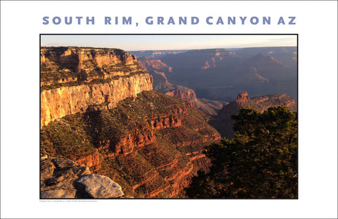 Panoramic View of South Rim, Grand Canyon, AZ Photo Wall Art #1122