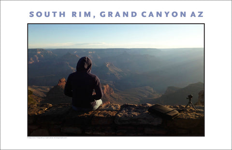 Morning Meditation South Rim, Grand Canyon, AZ Photo Wall Art #1123