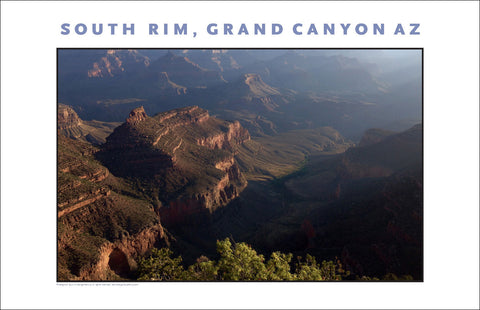 Lovely View of South Rim, Grand Canyon, AZ Photo Wall Art #1127