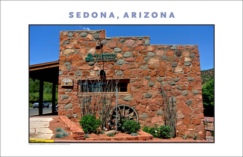 Downtown Sedona, AZ Photo Wall Art #1135