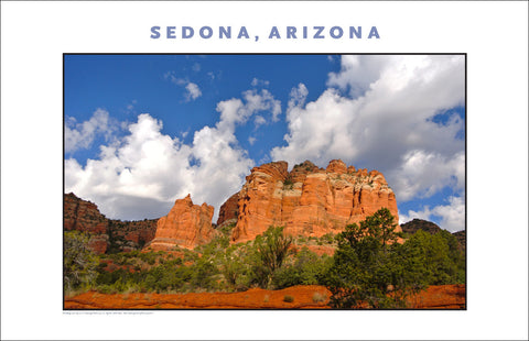 When Sun Comes Out, Sedona AZ Photo Wall Art #1138