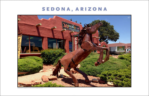 Retail Outlet...and Horse in Sedona AZ Photo Wall Art #1144