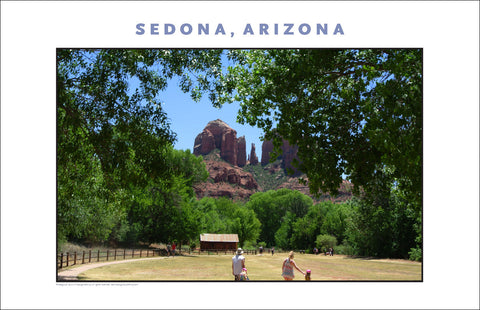 Landscape at Crescent Moon Ranch near Sedona AZ Photo Wall Art #1145