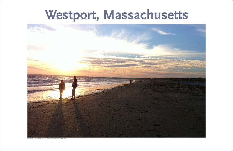 Wall Art, Sundown at Horseneck Beach, Westport, MA, Digital Photo #127