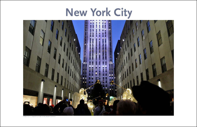 Manhattan's Rockefeller Center, Place Photo Poster Collection #143, NYC
