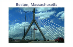 Wall Art, Boston, MA, Zakim Bridge Digital Photo #14