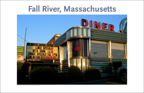 Wall Art, Almac's Famous Diner, Fall River, MA Digital Photo #220