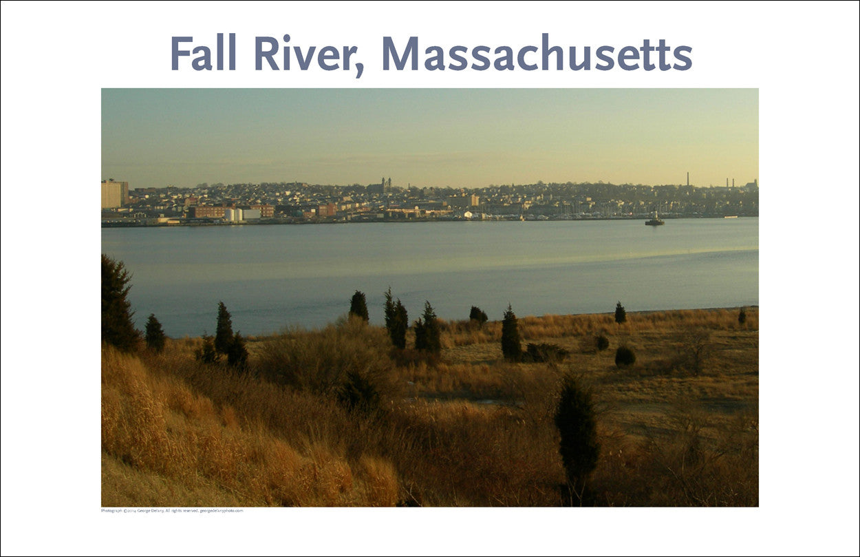 Wall Art, Fall River, MA, View of South End, Digital Photo #222