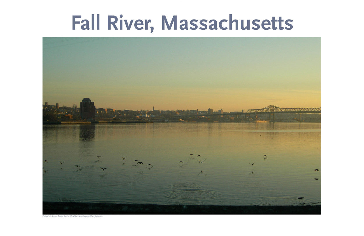 Wall Art, Fall River, MA Looking at City from Somerset, Digital Photo #224