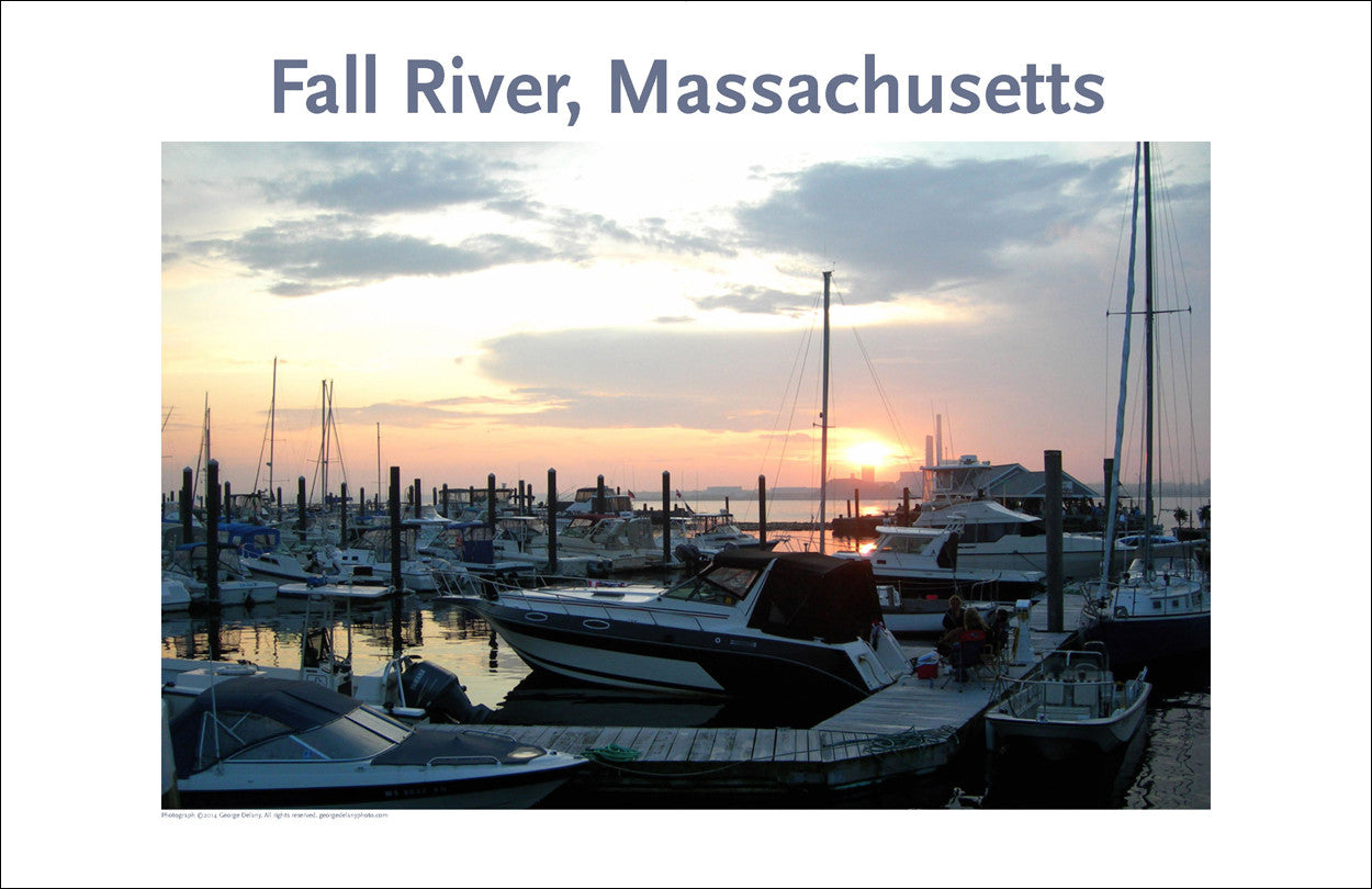 Wall Art, Fall River, MA Sunset on the Bay, Digital Photo #247