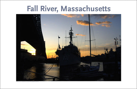 Battleship Cove, Fall River, MA, Photo Print on Canvas #249