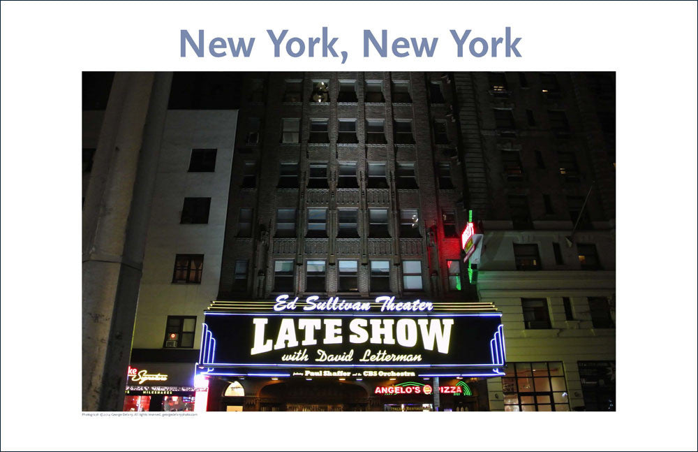 Letterman Show, NYC, Place Photo Poster Collection #26
