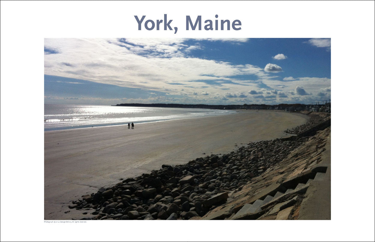 Long Sands Beach Off Season,York, Maine Photo Poster Collection #312