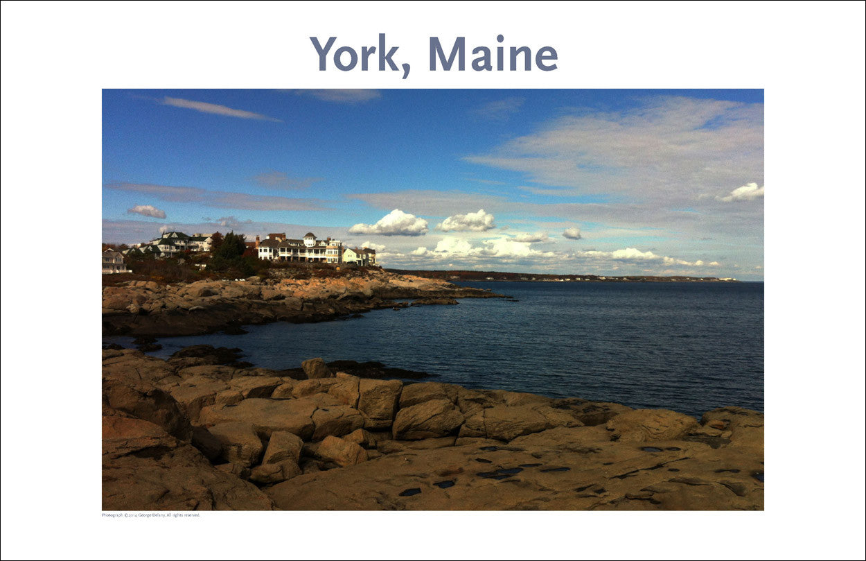 View North from Nubble Light, York, Maine Photo Poster Collection #319