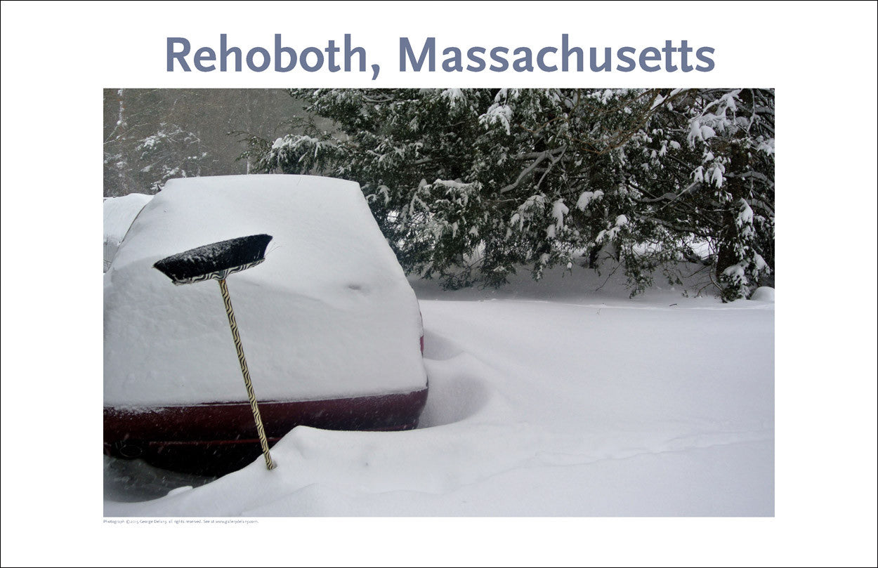 Wall Decor, Rehoboth, MA Car in Winter Digital Photo #356