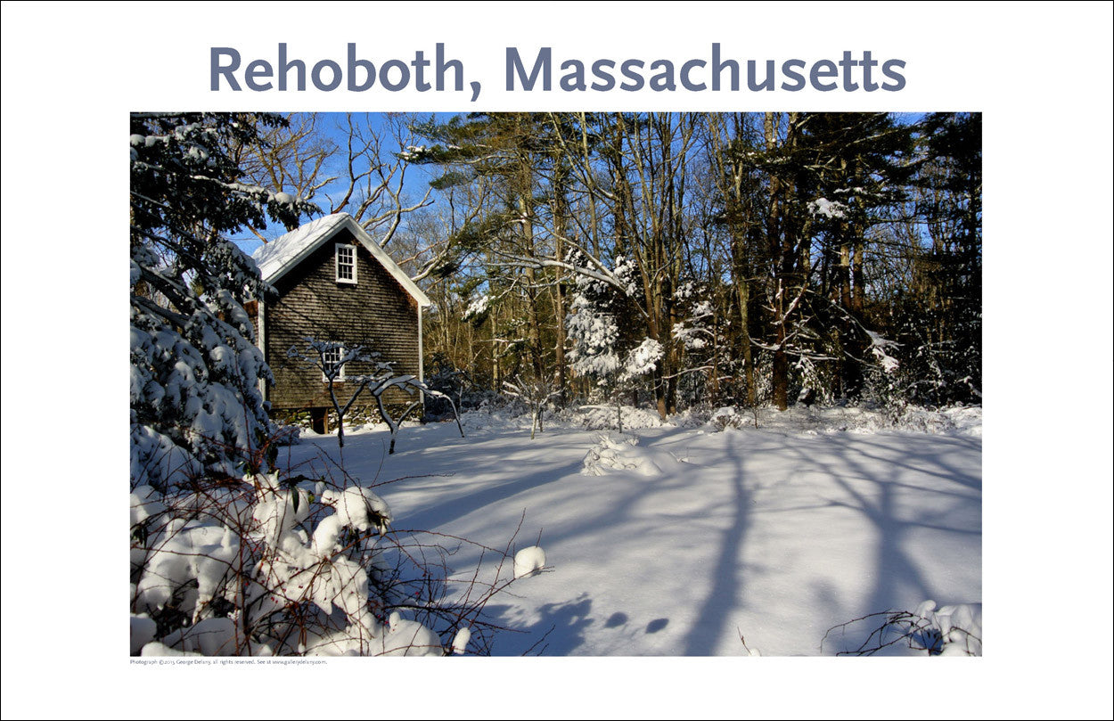 Wall Art, Rehoboth, MA, Morning Shadows in Winter Digital Photo #358