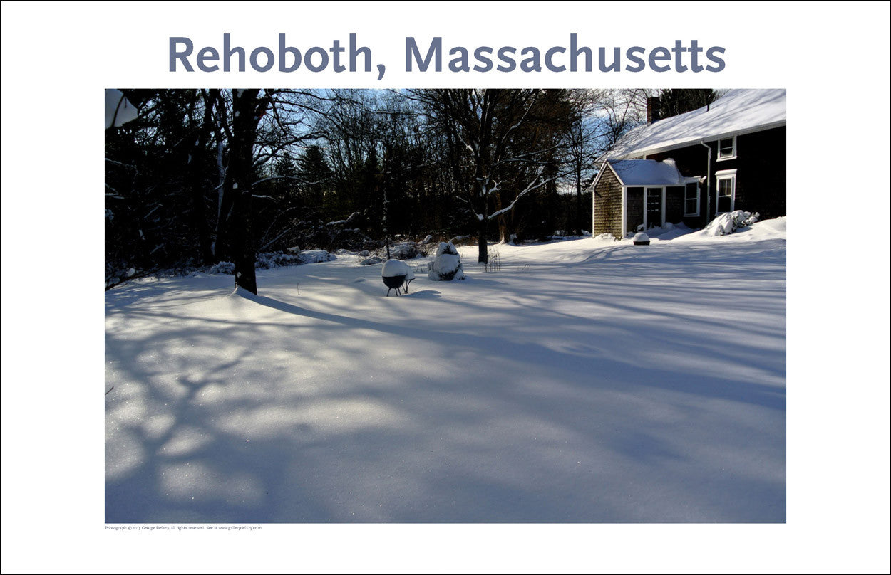 Wall Art, Rehoboth, MA Winter Shadows Digital Photo #359
