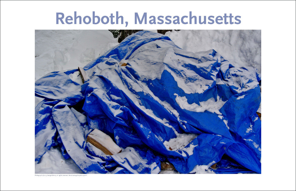 Wall Art, Rehoboth, MA, Tarp in Winter Digital Photo #364