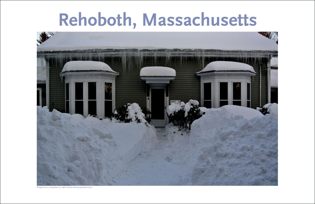 Wall Art, Rehoboth, MA Stacks of Snow in Winter Digital Photo #365