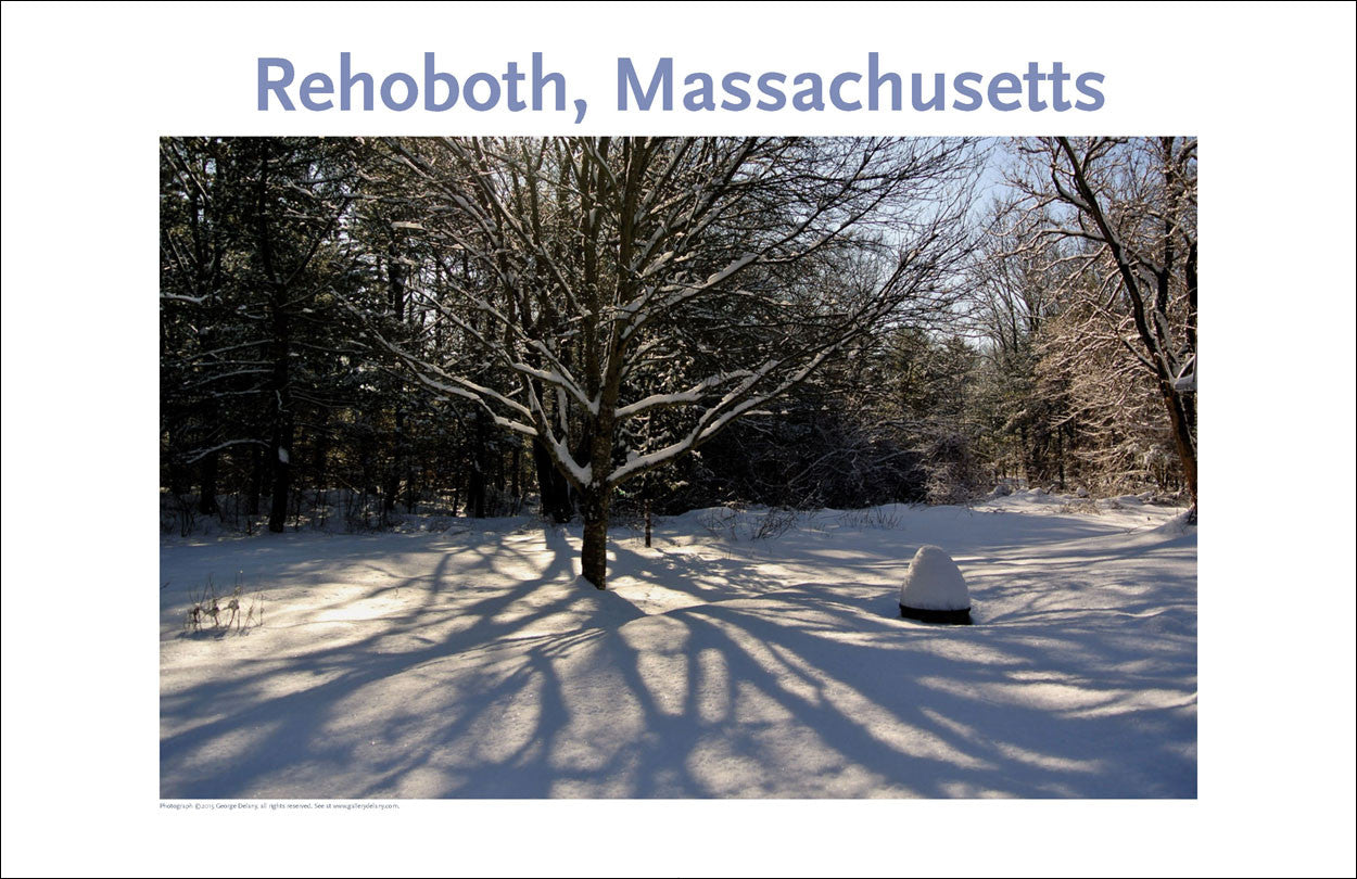 Wall Art, Rehoboth, MA, Winter Shadows, Digital Photo #368