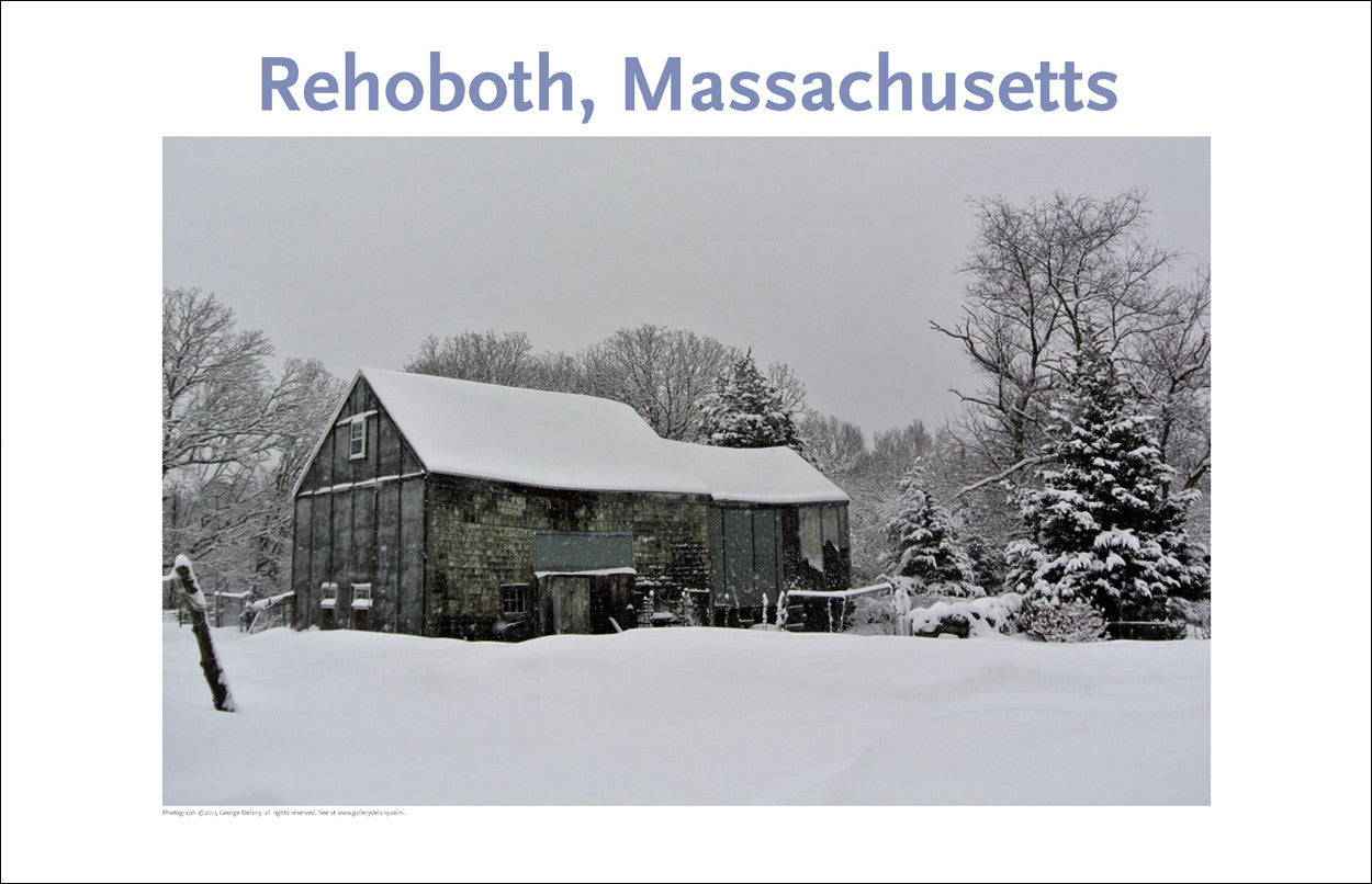 Wall Art, Rehoboth MA Barn in Winter Digital Photo #376